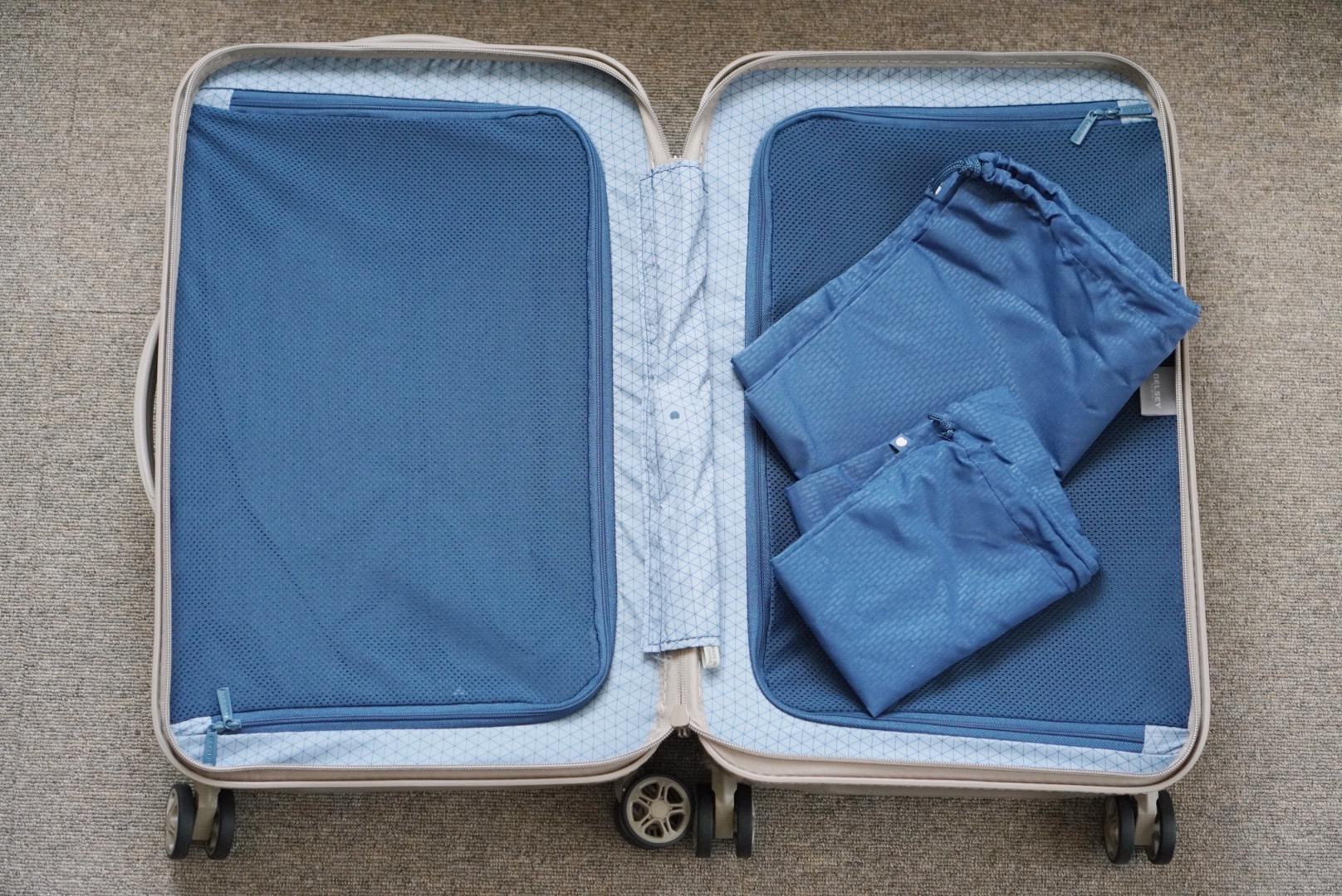 DELSEYのスーツケース/TURENNEの内部