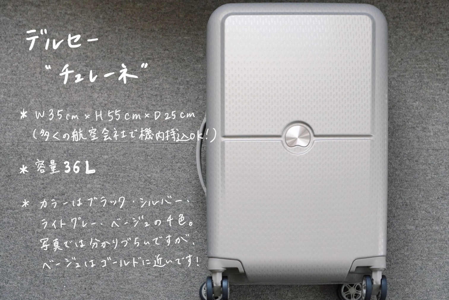 DELSEYのスーツケース/TURENNEの概要