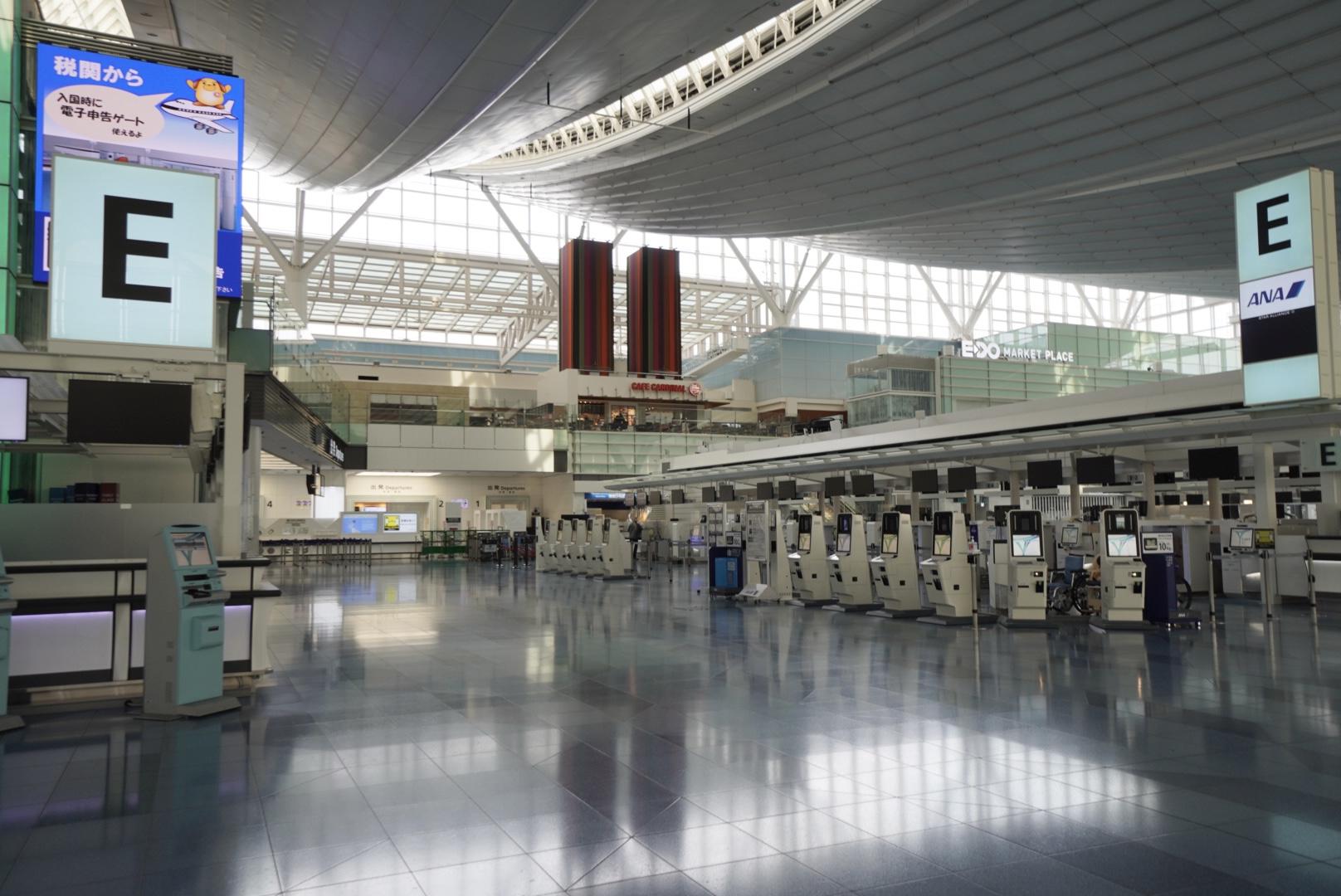 コロナ禍の羽田空港国際線ターミナル